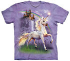Magical Unicorn Princess Castle Adult T-Shirt Tee