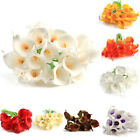 20pcs Calla Lily Artificial Flowers Bridal Wedding Bouquet PU Real Touch Flower
