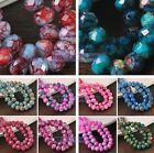 Wholesale Lot 6mm 8mm 10mm Colorful Rondelle Faceted Loose Spacer Glass Beads
