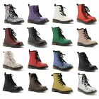 New Kids Boys Girls Lace Up Classic Comfy Flat Ankle Boots Shoes Sizes UK 10-2