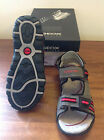 GEOX RESPIRA J.S. Strada Q Boys Grey/Red Sandals      £45    BNIB