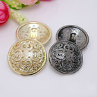 20pcs Resin Buttons Round Gold Antique Hollow Coat Sewing DIY Craft Accessories