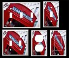 LONDON RED PHONE BOOTH #2  LIGHT SWITCH COVER PLATE