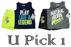 Under Armour Shorts Tank 2 piece Set Top Shirt Athletic Outfit Boys Sleeveless