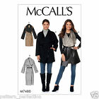 McCall's 7480 Sewing Pattern to MAKE Misses' Shawl Collar, Wrap Vest and Coats