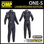 NEW! IA837 OMP ONE-S TOP LEVEL RACE SUIT LAMBORGHINI SPECIAL EDITION IN BLACK