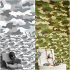 CAMOUFLAGE WALLPAPER 10M KHAKI GREEN + GREY + BLACK ARMY SOLDIER BEDROOM