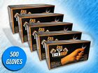 500 TIGER GRIP 7 MIL HEAVY DUTY ORANGE TEXTURED NITRILE GLOVES - (CHOOSE SIZE)