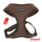 Dog Puppy Harness - Puppia - Dotty - Brown with Pink Dots - Choose Size