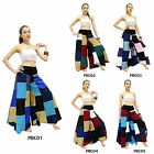 Pants PBC1-5 Silk Blend Unique Patchwork Boho Hippie Gypsy Harem Wide Leg Women