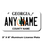 Personalized Georgia License Plate for Bicycles, Kid's Bikes & Cars Ver 2