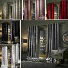 Plush Crushed Velour Faux Velvet Pencil Pleat Or Eyelet Ring Top Pair Curtains