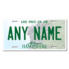 Personalized New Hampshire License Plate for Bicycles, Kid's Bikes & Cars Ver 1