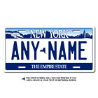 Personalized New York License Plate for Bicycles, Kid's Bikes & Cars Ver 1