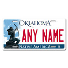 Personalized Oklahoma License Plate for Bicycles, Kid's Bikes & Cars Ver 2