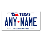 Personalized Texas License Plate for Bicycles, Kid's Bikes & Cars & Trucks Ver 1