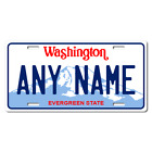 Personalized Washington License Plate for Bicycles, Kid's Bikes & Cars Ver 1