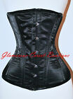 Long Corset Waist Training Double Steel Boned Shaper LONG TORSO Underbust XS-3X