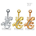 TT Crystal Gecko Belly Bar Ring Three Colour  (BL64)