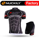 207 Nuckily Men's Mountain Bike Sports Short Sleeve Cycling Jersey+Shorts Set