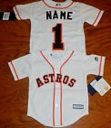 Houston Astros Cool Base MLB Majestic Kids 4/7 Replica Jersey add name & number