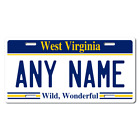 Personalized West Virginia License Plate for Bicycles, Kid's Bikes & Cars