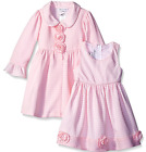 Bonnie Jean Girls Pink White Brick Pattern Easter Dress & Coat Set 4 5 6 6X New