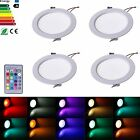 4x Remote control RGB color changing LED Recessed Ceiling Spot down light 5W/10W