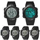 Hot Sale Waterproof Mens Boy LCD Digital Stopwatch Date Rubber Sport Wrist Watch