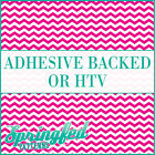 Pink & White Chevron Stripes Pattern #1 Adhesive Vinyl or HTV for Crafts Shirts