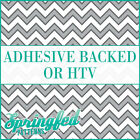 Grey & White Chevron Stripes Pattern #1 Adhesive Vinyl or HTV for Crafts Shirt