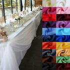 5M/10M x 1.4M Sheer Organza Top Table Swag Soft Fabric Wedding Party Supply DIY