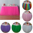 5pcs Tulle Tutu Table Skirt for Wedding Party Baby shower Decorations 100x80 cm