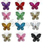 "10 of 2""(5cm) Nylon Glitter Artificial Butterfly Rhinestone Wedding Favor Craft"