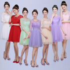 Fashion Women Lace Short Dress Prom Evening Party Cocktail Bridesmaid Wedding *