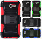 For Samsung Galaxy J3 COMBO Holster Hard HYBRID KICK STAND Rubber Phone Case