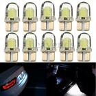 10x White T10 501 Silicone LED W5W COB 8 SMD Car Interior Side Number Tail Light