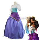 Women The Hunchback of Notre Dame Esmeralda Dress Gown Halloween Cosplay Costume