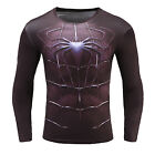Comics 3D Marvel Superhero Men's Compression Long T-shirts Gym Sport Cycling TOP