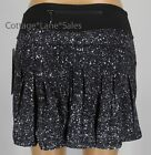 NEW LULULEMON Circuit Breaker Skirt TALL 4 8 10 Splatter White Black FREE SHIP