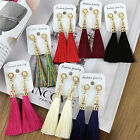 1Set Gold Plated New Tassel Long Earrings For Women Bijoux Fashion Jewelry