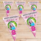 Personalised Girls Star Sparkle Happy Birthday Flag Banner Bunting N78 ANY AGE