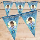 Personalised Boys Star Sparkle Happy Birthday Flag Banner Bunting N79 ANY AGE