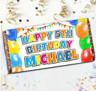 Personalised Balloons Happy Birthday Galaxy Milk Chocolate Bar / Wrapper N102