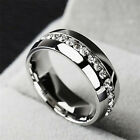 Rhineston Ring High Quality Stainless Steel For Men And Women Couple Ring