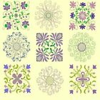 Anemone Quilt Squares Collection-7sets-273 designs-4sizes-by Anemone Embroidery