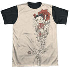 Betty Boop 1930s Animated Character Icon Rose Tattoo Adult Black Back T-Shirt T $24.95 USD