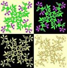 Anemone Quilt Squares 6-DESIGN 1-an Anemone Machine Embroidery single in 4 sizes