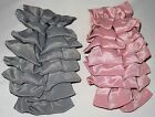 LONG PLASTIC BANANA CLIP 2 ROWS of GRAY or ROSE SATIN BOWS SAVE on COMBINE SHIP!