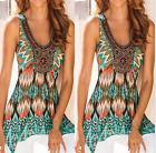 Women's fashion sleeveless print round neck T-shirt Tops & Blouses S-5XL